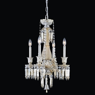 Elegant 8904D17GT-GT-EC Majestic Golden Teak Finish 24  Tall Mini Ceiling Chandelier