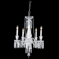 Elegant 8905D21C-EC Majestic Chrome Finish 26  Tall Mini Chandelier Light