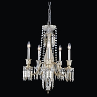 Elegant 8905D21GT-GT-EC Majestic Golden Teak Finish 21  Wide Mini Chandelier Lighting