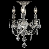 Elegant 9203F13PW-RC Rosalia Vintage Crystal 3 Lamp Pewter Home Ceiling Lighting