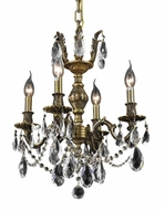 Elegant 9404D17AB-RC Marseille 20  Tall Vintage Chandelier with Clear Pear Shape Crystal Accents