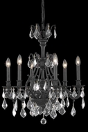 Elegant 9606D24DB-GS-RC Monarch 24  6-light Dark Bronze Golden Shadow Crystal Chandelier Lamp
