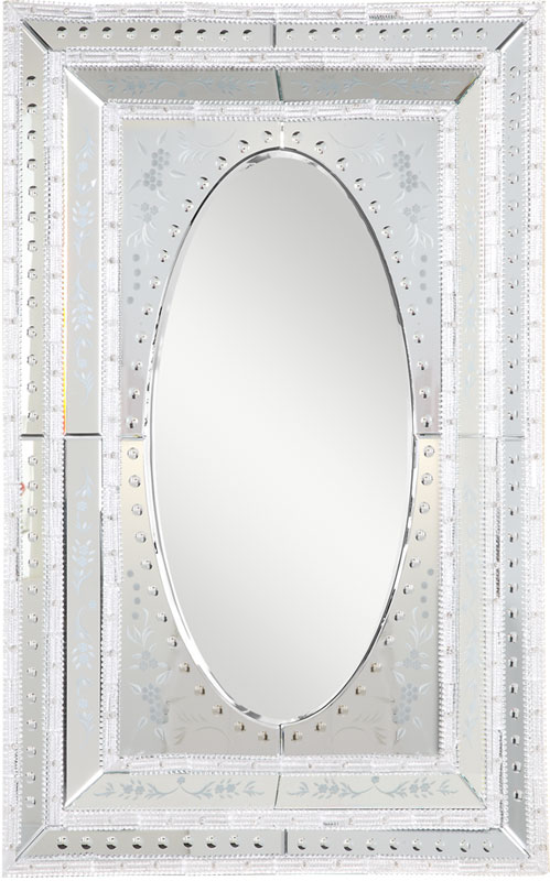 Elegant Lighting MR-1004S Murano Traditional Silver Finish 52.4  Tall  Wall Mirror. Loading zoom - Elegant Lighting MR-1004S Murano Traditional Silver Finish 52.4