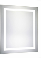 Elegant Lighting MRE-6001 Element Modern Glossy White LED 20  x 30  Rectangle Mirror