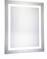 Elegant Lighting MRE-6003 Element Modern Glossy White LED 24  x 30  Rectangle Mirror