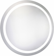 Elegant Lighting MRE-6007 Element Modern Glossy White LED 42  Round Mirror