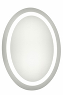 Elegant Lighting MRE-6008 Element Contemporary Glossy White LED 21 x 28 Oval Wall Mounted Mirror