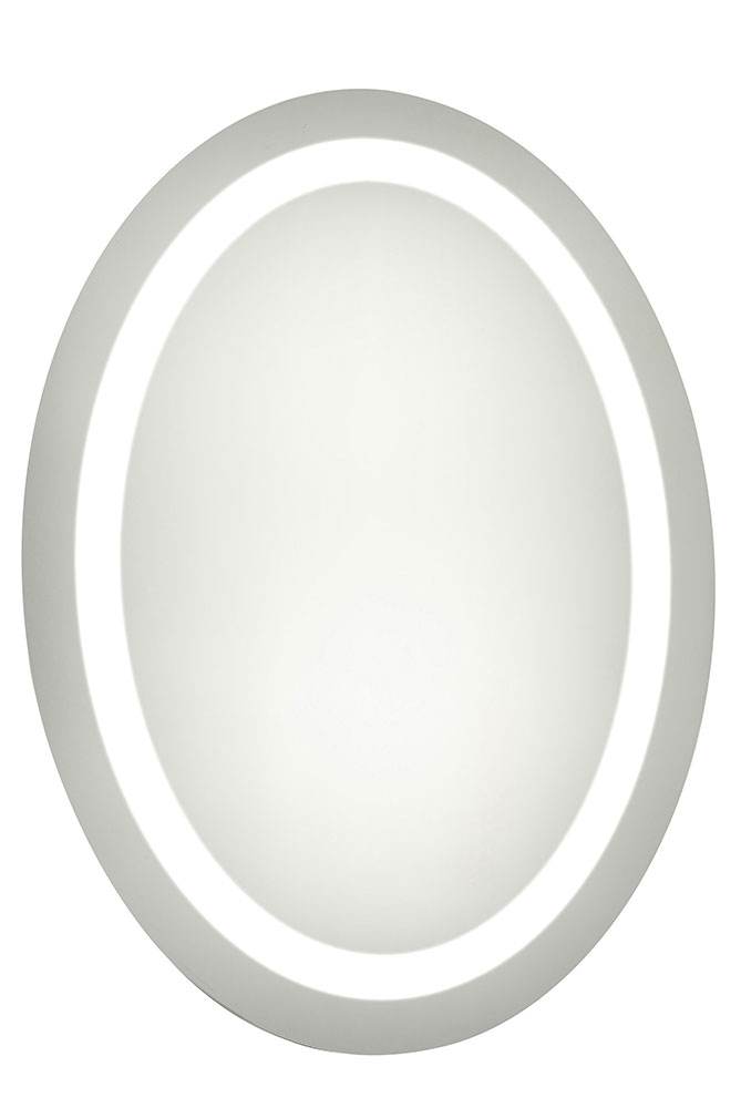 Elegant Lighting MRE Element Contemporary Glossy White LED - Contemporary oval mirrors