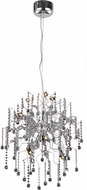 Elegant V2075D24C-RC Astro Chrome Halogen 24  Chandelier Light