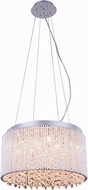 Elegant V2092D16C-RC Influx Chrome Halogen 16  Drum Drop Ceiling Light Fixture