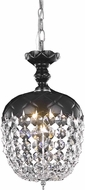 Elegant V7801D8B-RC Rococo Black Mini Pendant Light Fixture