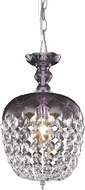 Elegant V7801D8PE-RC Rococo Purple Mini Pendant Hanging Light