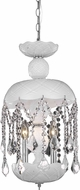 Elegant V7803D11WH-RC Rococo White Mini Pendant Light