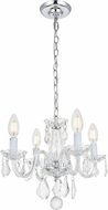 Elegant V7804D15C-RC Rococo Chrome Mini Chandelier Lamp