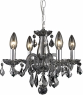 Elegant V7804D15SS-SS-RC Rococo Silver Shade Mini Chandelier Lamp