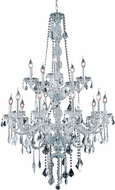 Elegant V7815G33C-RC Verona Chrome 33  Hanging Chandelier