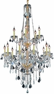 Elegant V7815G33G-RC Verona Gold 33  Chandelier Light
