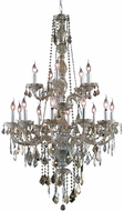 Elegant V7815G33GT-GT-RC Verona Golden Teak 33  Chandelier Lighting