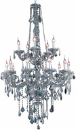 Elegant V7815G33SS-SS-RC Verona Silver Shade 33  Lighting Chandelier