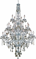 Elegant V7825G43C-GT-RC Verona Chrome 43  Chandelier Lamp