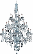 Elegant V7825G43C-RC Verona Chrome 43  Chandelier Light