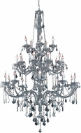 Elegant V7825G43SS-SS-RC Verona Silver Shade 43  Chandelier Light