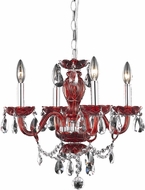 Elegant V7834D17RD-RC Princeton Red Mini Ceiling Chandelier