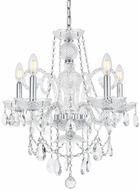 Elegant V7835D20C-RC Princeton Chrome Mini Chandelier Light