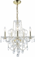 Elegant V7835D20G-RC Princeton Gold Mini Chandelier Lighting