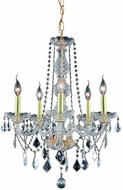 Elegant V7855D21G-RC Verona Gold Mini Chandelier Lighting