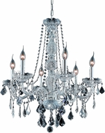 Elegant V7856D24C-RC Verona Chrome 24  Ceiling Chandelier