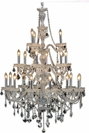 Elegant V7890G38C-RC Giselle Chrome 38  Lighting Chandelier