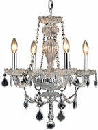 Elegant V7894D20C-RC Giselle Chrome Mini Chandelier Light