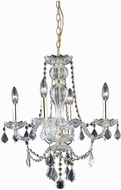 Elegant V7894D20G-RC Giselle Gold Mini Ceiling Chandelier