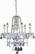 Elegant V7896D21C-RC Giselle Chrome Mini Hanging Chandelier