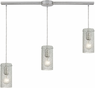 ELK 10242-3L-CL Ice Fragments Contemporary Satin Nickel Multi Pendant Lighting