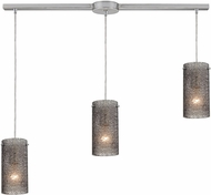 ELK 10242-3L-SM Ice Fragments Modern Satin Nickel Multi Pendant Light