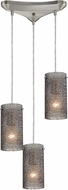 ELK 10242-3SM Ice Fragments Contemporary Satin Nickel Multi Lighting Pendant