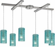 ELK 10242-6AQ Ice Fragments Modern Satin Nickel Multi Pendant Lamp