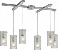 ELK 10242-6CL Ice Fragments Contemporary Satin Nickel Multi Hanging Lamp