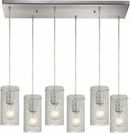 ELK 10242-6RC-CL Ice Fragments Contemporary Satin Nickel Multi Pendant Light Fixture