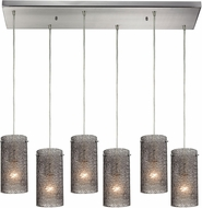 ELK 10242-6RC-SM Ice Fragments Modern Satin Nickel Multi Pendant Lighting Fixture