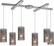 ELK 10242-6SM Ice Fragments Contemporary Satin Nickel Multi Hanging Pendant Lighting