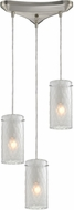 ELK 10243-3FC Synthesis Modern Satin Nickel Multi Drop Ceiling Lighting