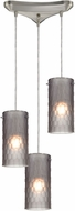 ELK 10243-3FSM Synthesis Contemporary Satin Nickel Multi Ceiling Light Pendant