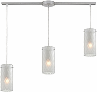 ELK 10243-3L-FC Synthesis Contemporary Satin Nickel Multi Drop Ceiling Light Fixture
