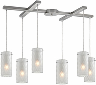 ELK 10243-6FC Synthesis Modern Satin Nickel Multi Pendant Light