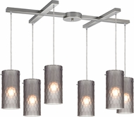 ELK 10243-6FSM Synthesis Contemporary Satin Nickel Multi Lighting Pendant