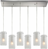 ELK 10243-6RC-FC Synthesis Contemporary Satin Nickel Multi Hanging Lamp