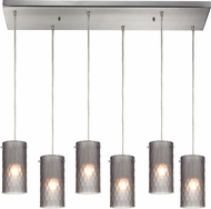 ELK 10243-6RC-FSM Synthesis Modern Satin Nickel Multi Hanging Light